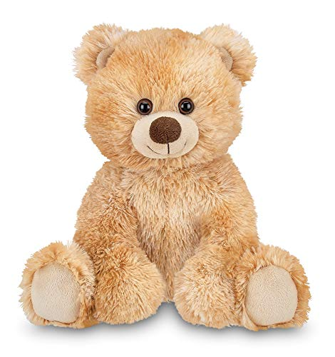 Bearington Kipper Tan Plush Stuffed Animal Teddy Bear, 15 inches