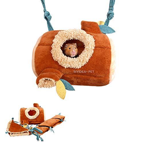 MYIDEA Hamster Jungle Suit – Branch Tunnel/Branch Pile Nest/Hammock (Tunnel)