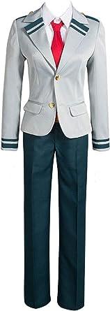 Uniforme Escolar para Hombre, Traje de Estudiante, Chaqueta Gris con Camisa Blanca y Corbata Alunno Pant Azul Anime Cosplay Costume Gris XL: Amazon.es: Ropa y accesorios