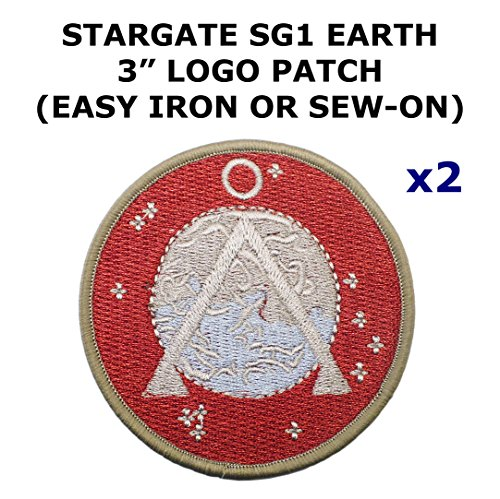 2 PCS Stargate SG-1 Earth Theme DIY Iron / Sew-on Decorative Applique Patches 2018