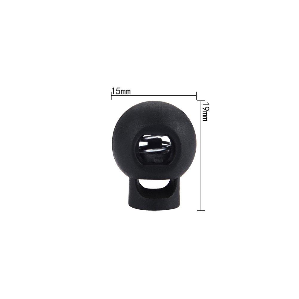 Nopea Schwein Nase Schnalle aus Kunststoff 22/×20/×7mm Doppel Enden Kordel Verschluss Stopper 10 St/ück Schwarz