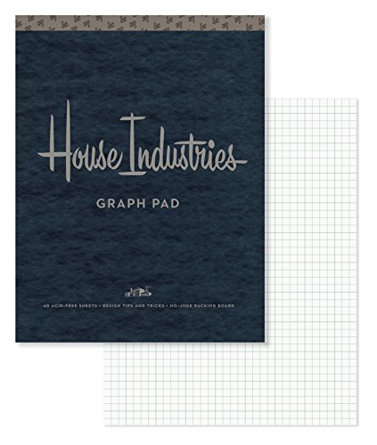 House Industries Graph Pad: 40 Acid-Free Sheets, Design Tips, Extra-Thick Backing Board ()