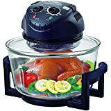 Hometech 12 Quart Halogen Tabletop Countertop Convection Oven with Extender Ring(Matt Black)