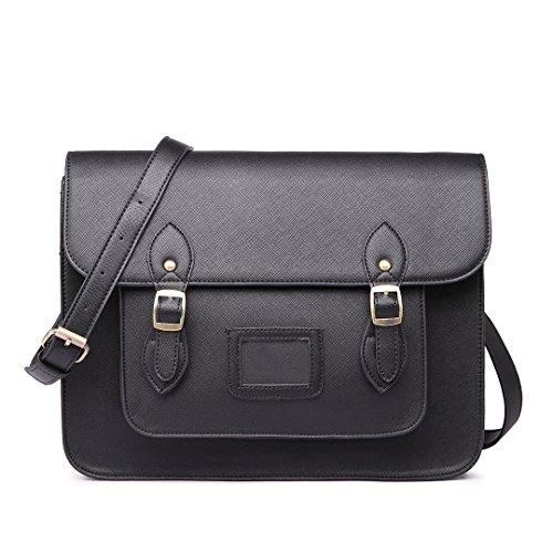 Miss Lulu - Bolso estilo cartera para mujer - L1116 BLACK