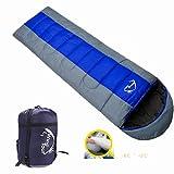 Docooler -8℃ ~ +5℃ Thermal Winter Envelope Camping Sleeping Bag Hooded Water Resistant 1.3kg