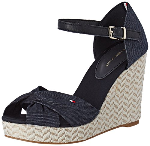 Strap midnight 403 E1285lena Shoes Ankle 3d1 Hilfiger Heeled Tommy Women's Blue zUa60Pzqw
