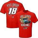 NASCAR Men's-Speedbolt Driver T-Shirt-Kyle Busch #18-M&M's-Red-Medium