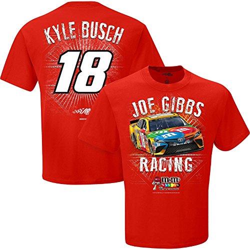 Kyle Busch Driver (NASCAR Men's-Speedbolt Driver T-Shirt-Kyle Busch #18-M&M's-Red-Medium)