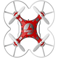 Owill FQ777-124 Micro Pocket Drone 4CH 6Axis Gyro Switchable Controller Enjoy Flying Anywhere Anytime (Red)