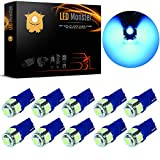 2004 nissan maxima interior parts - LED Monster 10-Pack Ice Blue Interior Dome Map LED Bulbs 5 SMD Car License Plate Lights LED Lamp 12V 168 194 T10 5-SMD