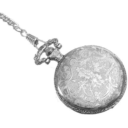 Reloj de bolsillo grabado con tapa y cadena - Christian Gar: Amazon.es: Relojes