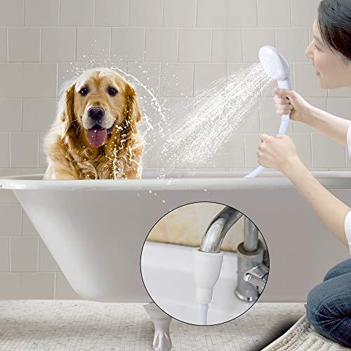 Besmon Pet Shower Sprayer for Bathtub,Tub Spout Shower Sprayer,Slip on Shower Hose,Shower Attachment for Tub Faucet, Dog Sprayer Shower Attachment,Sink Sprayer Attachment,Portable Shower Head (Sink For Dogs)