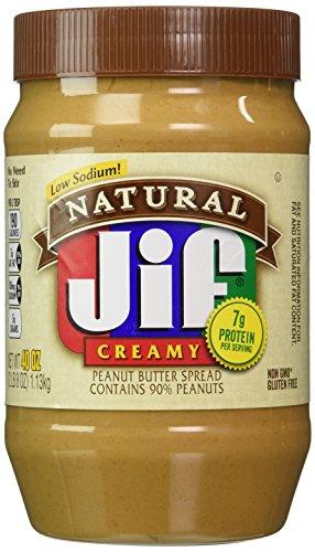 Jif Natural Creamy Peanut Butter Spread - 40 oz