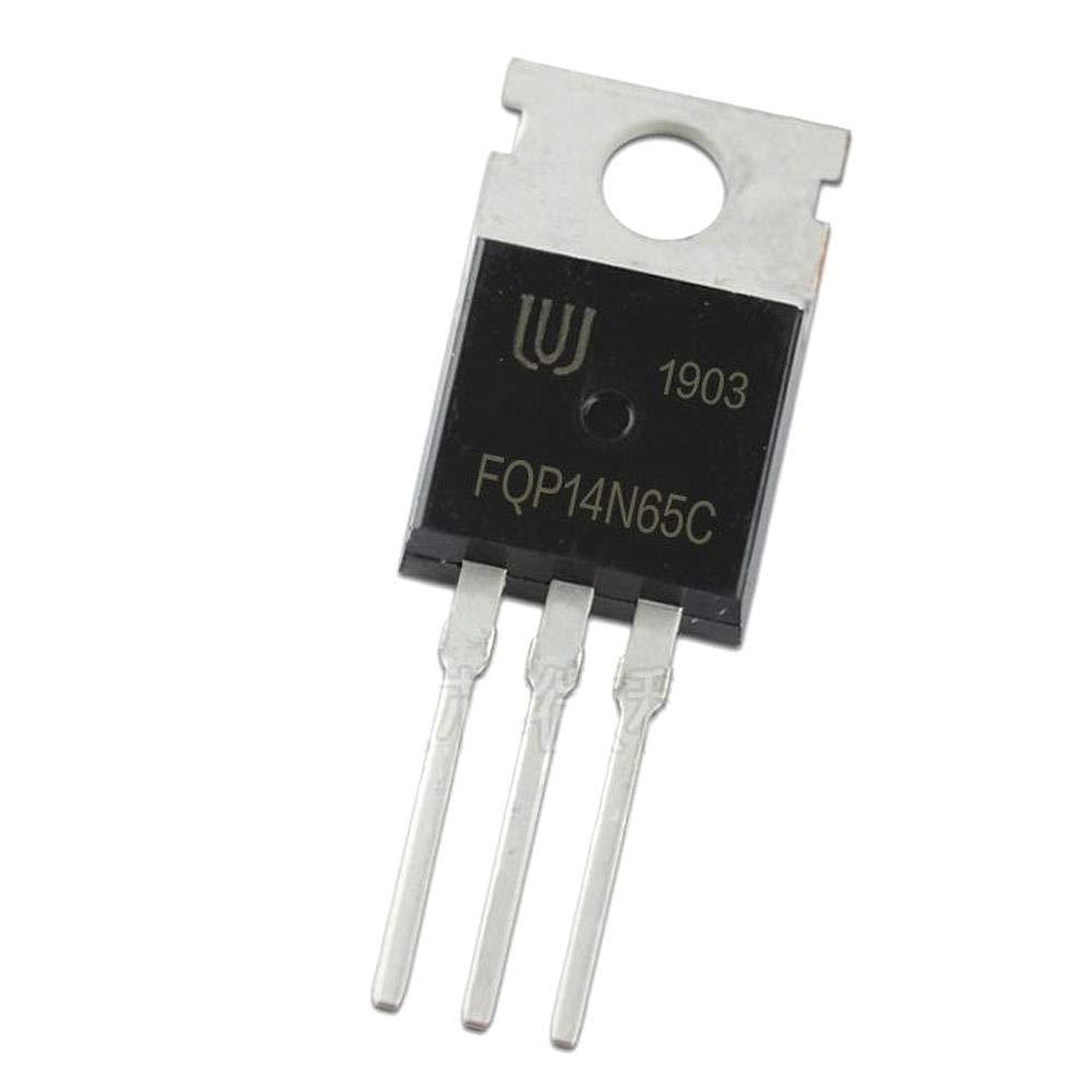 10Pcs//lot FQP14N65C TO-220 14N65 14A 650V N-Channel Mosfet