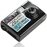 Flylinktech Full Hd Mini Caméra Vidéo Mini DV 1280*960 Pixels/ 5.0 Mégapixels Support TF Card Expansion Maximum 32GO (8GO TF carte inclus))