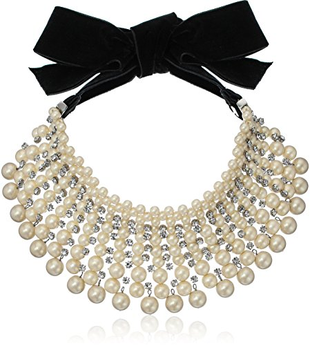 Carolee pearl manor pearl nested drama choker necklace, (Carolee Womens Pearl Choker Necklace)