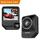 Dual Dash Cam for Cars 1080P Front and Rear Inside Cameras AWESAFE 2.31'' 170°Wide Angle Dashboard Camera Recorder with Night Vision,G-Sensor, Loop Recording, WDR, Parking Mode