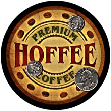 Hoffee Family Name Coffee Rubber Drink Coasters - 4 pcs