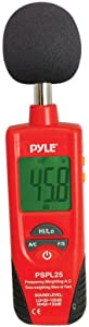 Digital Handheld Sound Level Meter - Meter Automatic with A and C Frequency Weighting for Musicians and Sound Audio Professionals, 9V Battery Type - Pyle SPL25, Red/Black (PSPL25)