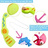 JCSHHUB Baby Fishing Bath Toy Bath Water Toys with Magnetic Fishing Rod, Bathtub Fun Time Best Gift...