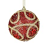 Christmas Ball Ornaments 8CM Christmas Rhinestone Bling Baubles Balls Xmas Tree Ornament Decoration