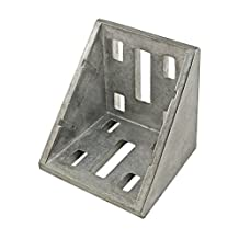 80/20 Inc., 14095, 30 Series 8 Hole Inside Corner Bracket with Dual Support, Die Cast Aluminum by 80/20 Inc