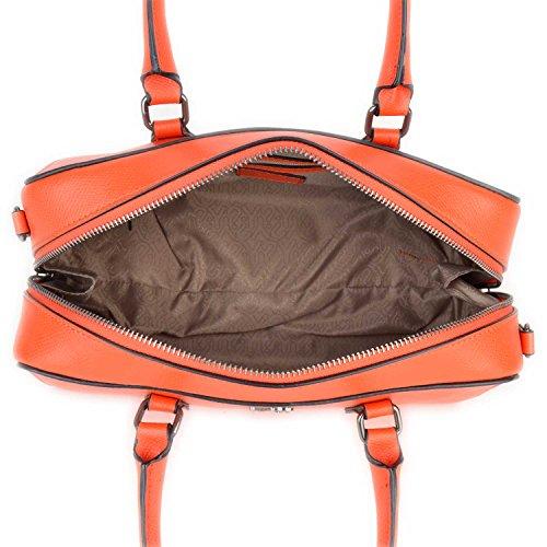 Borsa Bauletto in pelle Y Not con tracolla sganciabile - 718-B Rosso Corallo