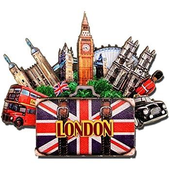 City-Souvenirs London Magnet 4 Inch 3D Big Ben Magnet and London Landmarks