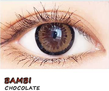 Lentes de moda, lentes de contacto de color de 1 año de uso BAMBI CHOCOLATE (2 lentillas por caja): Amazon.es: Salud y cuidado personal