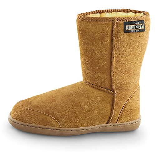 Guide Gear Mens 10 Suede Boot Slippers Cinnamon EhRqNKU5