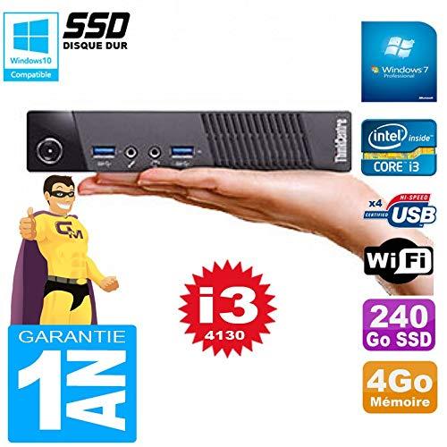 Lenovo Ultra Mini PC M73 USFF Tiny Core I3-4130 4GB Disco 240GB ...
