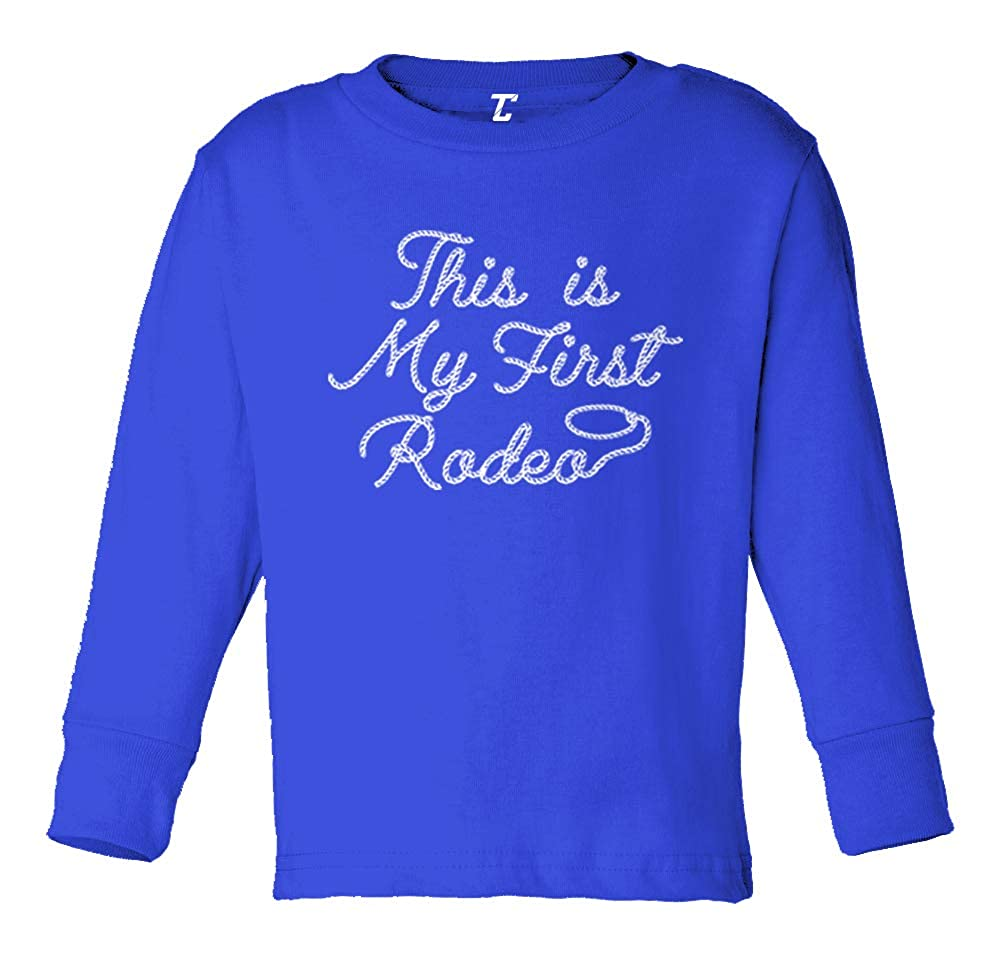 This is My First Rodeo Cowboy Funny Long Sleeve Toddler Cotton Jersey Shirt