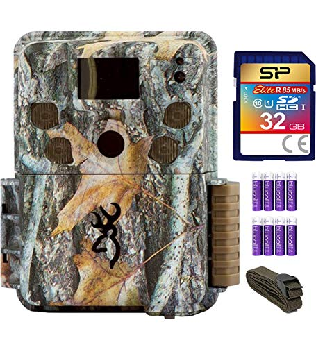 (blucoil Browning Trail Cameras BTC-5PXD Strike Force Pro XD Full HD Video Camera with 24MP Image Resolution Bundle with 6-FT Tree Strap Mount, Silicon Power 32GB Class 10 SD Card 8 AA Batteries)