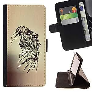 Momo Phone Case / Flip Funda de Cuero Case Cover - Tatouage Sketch Death Metal - Samsung Galaxy J3 GSM-J300