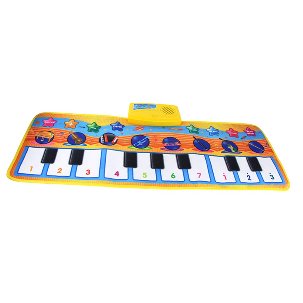 SM SunniMix Durable Piano Mat Electronic Music Carpet Touch Play Blanket, Perfect for Kids 2 to 5 Year Olds Dance & Learn (32x11 inch)
