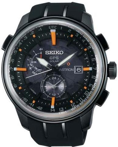 Seiko Astron SAS035J1 GPS solar watch GPS reception for time and timezone