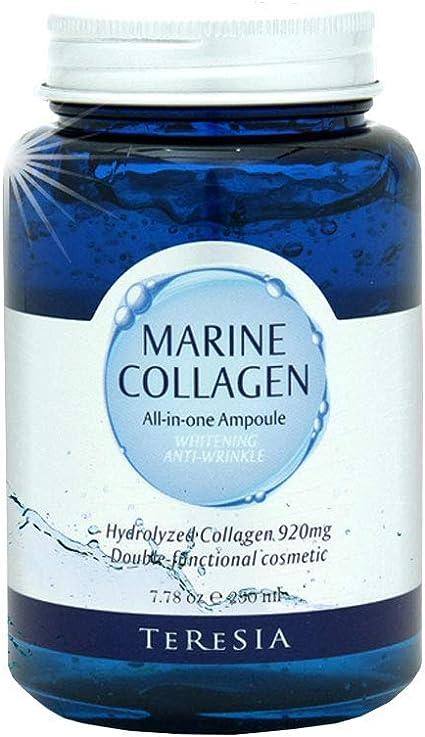 teresia Crema Colágeno Marino Todo en una ampolla, blanqueando y función anti arrugas dual, 230 ml (7,8 oz): Amazon.es: Belleza