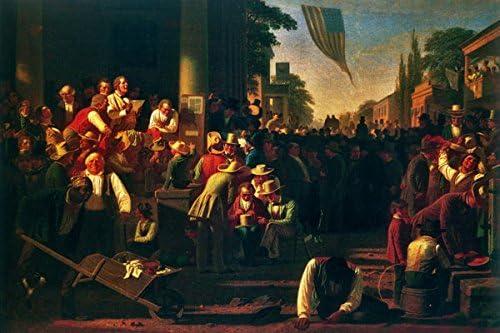"The Verdict of the People 1854 George Caleb Bingham 16/""x24/"" Canvas Art Poster"