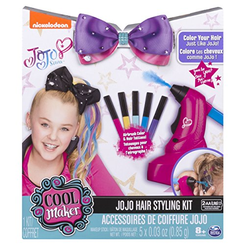 Cool Maker JoJo Siwa Hair Styling Kit - Airbrush Highlights Hair Tattoos