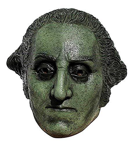 George Clinton Halloween Costume (President George Washington Halloween Fake Metal Statue Latex Rubber Full Face Mask)