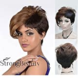 Rihanna custom style European and American fashion hairstyle asymmetrical bangs side bangs oblique short straight hair wig foreign trade of the original sle