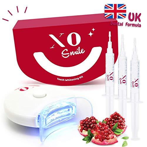 Teeth Whitening Kit by XOsmile - White Teeth in 10 Minutes - 3 Gels, 1 Led...