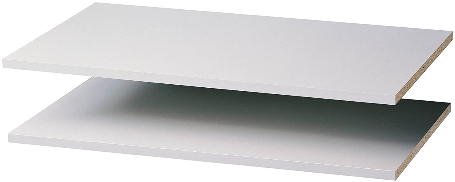 Amazon.com: Easy Track RS1423 24-Inch Closet Shelf, White, 2-Pack ...