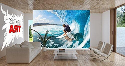 Póster Surfista Mural Decoración Deporte Mar Naturaleza Beach Ola Surfear Océano Tabla de surfear Surfboard Deporte acuático | foto póster mural imagen deco ...