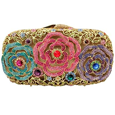 Amazon.com: Chapado en oro Triple Rose embrague diseño de ...