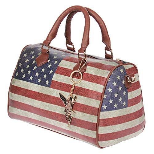 M. Kossberg - Borsa a mano con stampa bandiera Americana: Amazon.it ...