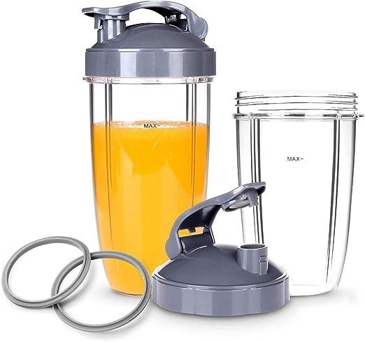 Wadoy - Accesorios para licuadora de zumo, vasos de 32 oz con tapa ...
