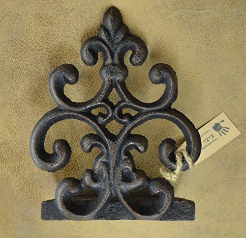 Lulu Decor, Cast Iron Fleur De Lis Door Stop, Door Stopper in Antique Black Finish, Beautiful and Useful Product (1) by Lulu Decor (Image #2)