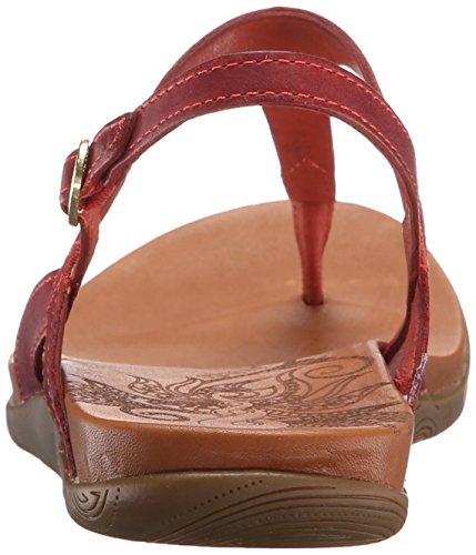 Ahnu Femmes Salena Thong Sandale Pierre Rouge
