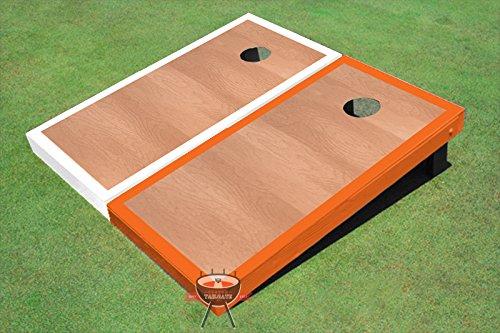 ローズウッドオレンジとホワイトBorder Corn穴ボードCornhole Game Set B00O7U6GYS